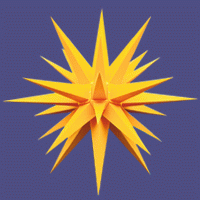 Herrnhuter Stern fürs Fenster gelb 13 cm